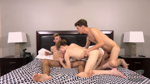 Cute James Double-Dicked - Aiden Palm, James Stirling & Max Rose