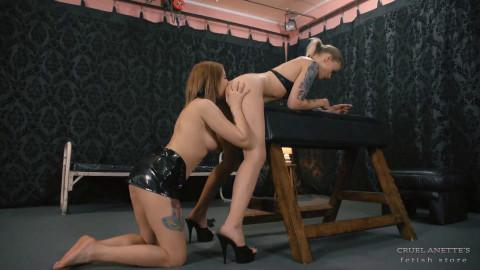 Best Femdom Porn Mistress Anette Ass Eater Slave Girl