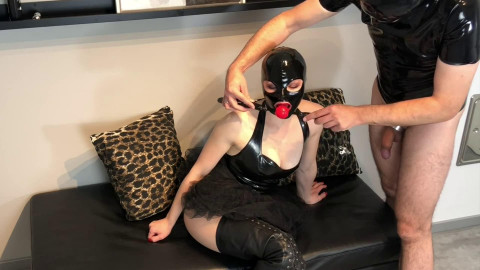 Hard restraint bondage and soreness for very excited bitch in latex