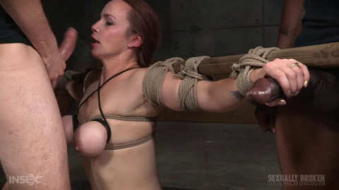 Realtimebondage - Mar 21, 2016 - Busty Bella Rossi BaRS show with epic BBC deepthroat