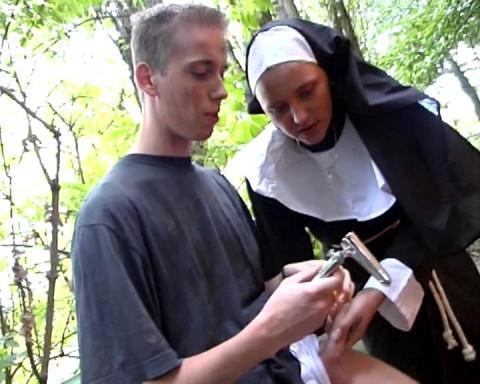 Kinky sex with a nun