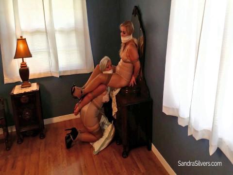 Buxom Panty Burglar Leaves MOTHER ID LIKE TO FUCK roommates GirdleBound and Wrap-Gagged!