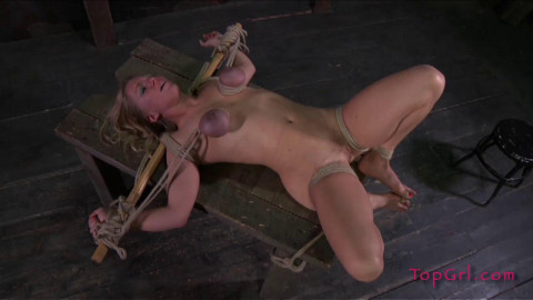 Two girl sluts are located in a basement for a bondage session