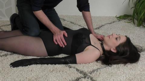 Super restraint bondage, predicament and torment for hawt dark brown