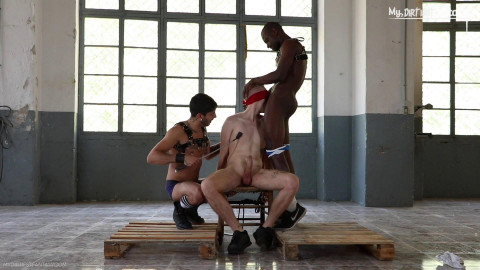 Tortured Threesome Fuck For Hot Twink