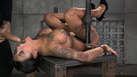 Bonnie Rotten bound in a straightjacket and roughly fucked