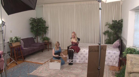 6 Inch Heels on Schoolgirl in Bondage - plus Outtakes - Alli Rae