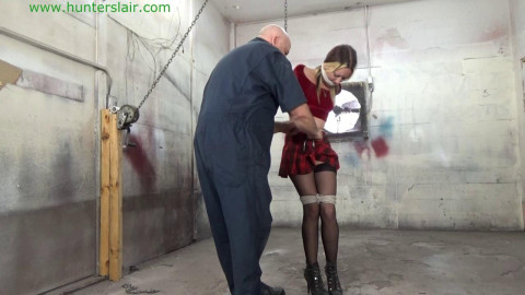 Lexi Lane - Lustful coed strung up in a unmerciful breast fastened strappado