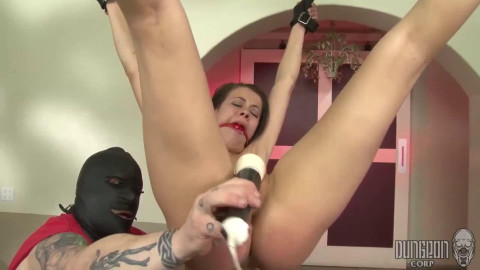 Restraint bondage, suspension, spanking and suffering for hot floozy part FOURTH