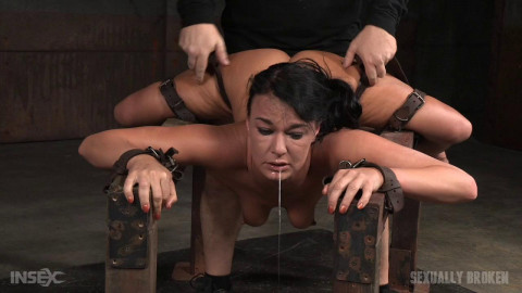 Flexible London River bound split in half giant cock drooling massive orgasms! (2016)