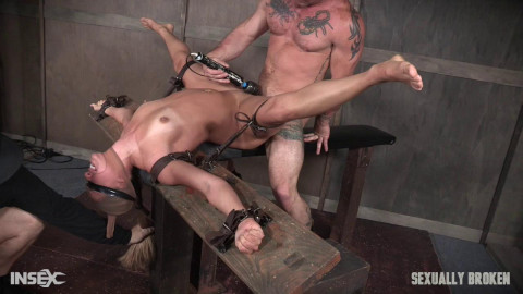 Julia Waters - Brutal throat fuckings, Anal fucking, with amazing bondage.