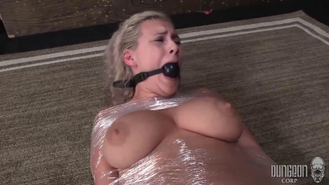 Hard tying, wrapping and castigation for very hawt blond part 2 Full HD