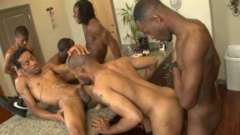 Thug Orgy With Huge Black Dicks