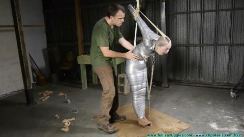 Rachel Encased in Pantyhose then a Mummified Strappado - Part 4