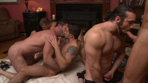 First Amazing Gang Bang With Wild Fuckers