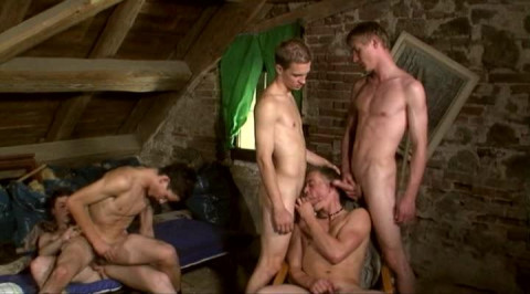 Bareback Boy Orgy