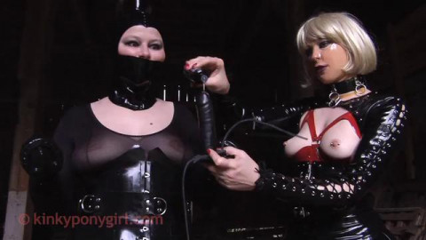 Ponygirl Precious Is Plugged and Caned