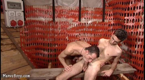 Old Construction Worker Nailed By Young Workmate