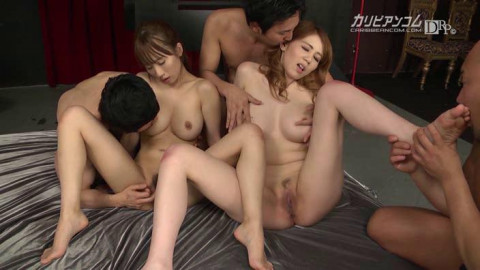 Maki Koizumi, Yui Misaki - Japanese Group Orgy With Anal Sex