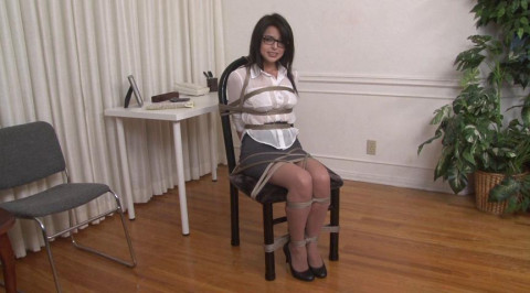 Bound and Gagged - Receptionist Phoebe Queen is Bound and Gagged