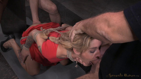 Tattooed alt slut Kleio Valentien tied up passed around rough fucking epic deepthoat! (2015)
