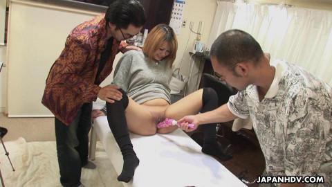 Miyo saeki made an interesting cookie hair removal clip
