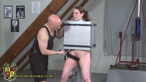 Master Gord - Sierra Cirque locked in the Coco Bondage box HD 2015