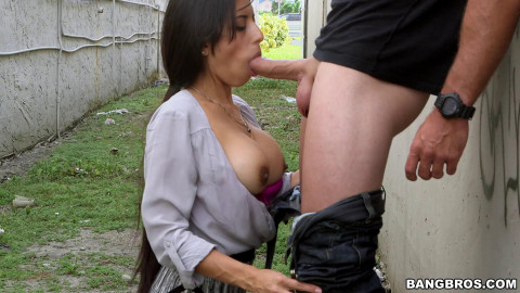 Latina Milf anal fucked in public