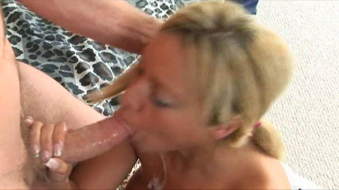 Blonde cutie fucked in mouth