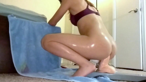 Petite Asian Girlfriend Gets Trained Hard with Giant Dildos 2