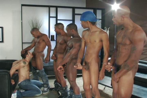 Rough Black Gangbang Party