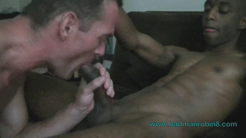 Badmanrobin8 - Jay - Hot blowjob & bareback fuck, 3 huge cocks