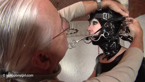 HD Dominance and submission Sex Movie scenes JG Leathers Trains a Ponygirl