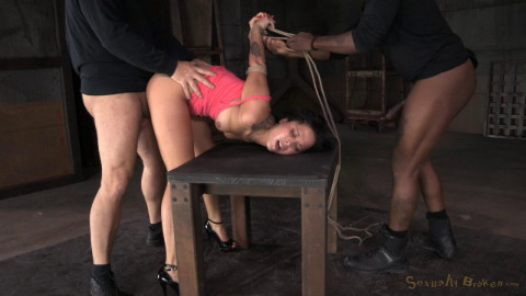 Mia Austin roughly fucked in strict restraints