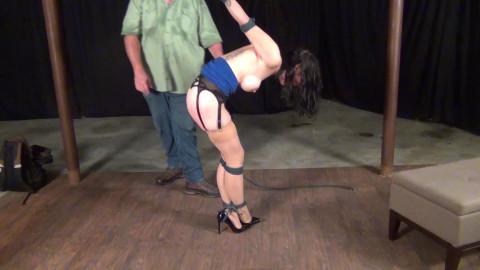 Raven Eve: Manhandled until that babe Submits to Bondage Pt 2