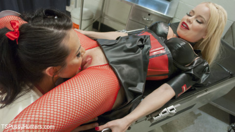 Big Booty Nurse Gives Another Big Booty Nurse a Pelvic Exam with her Cock