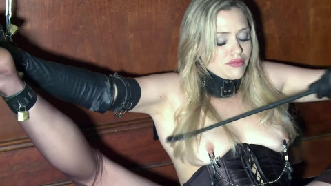 Restraint bondage, spanking and torment for very glamorous golden-haired part FIRST Full HD 1080p