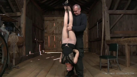 Tight restraint bondage, strappado and punishment for lewd slavegirl part 1 HD 1080