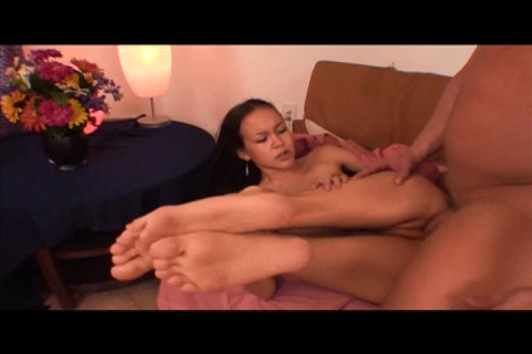 Tiny Asian Amai Liu Gets Super Fucked on Couch!
