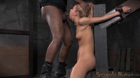 Adorable cutie Alina West strappado bound sybain throat trained drooling deepthroat! (2015)