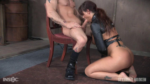 Hot Cougar is helpless in a straight jacket