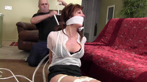 Snooping cougar neighbor kept bound and gagged