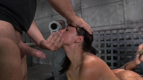 Ava Dalush fastened down on fucking machine