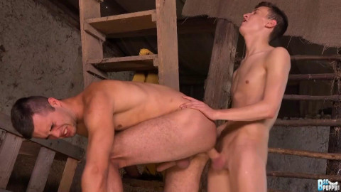 Horny boys are excited and hungry