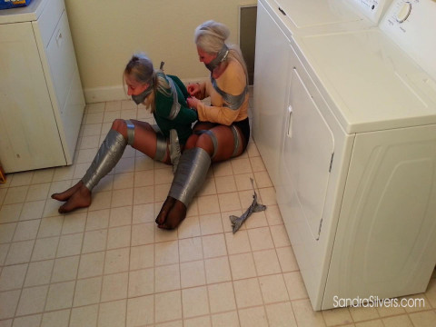 Pantyhose Peril when MOTHER ID LIKE TO FUCK Roommates Are Duct Taped in the Laundry!