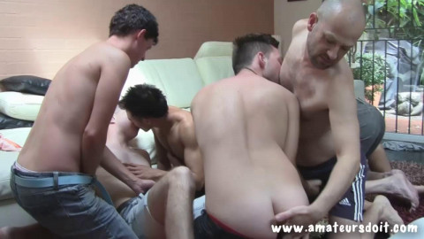 Part 2:8 Way Group Sex At Home