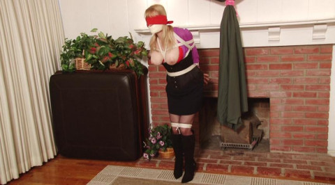 Bound and Gagged - Frightened Captive Tries to Escape