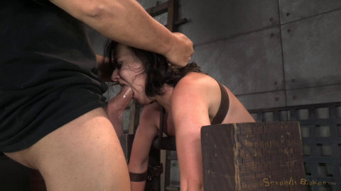 SexuallyBroken - Nov 26, 2014 - Cute little Amy Faye belted down onto sybian