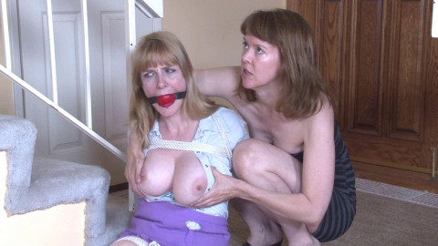 Bound and Gagged - Dildo BlowJob in Bondage - Lorelei and Jamie Foster