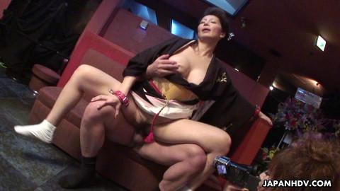 Sayuri mikami treats her apprentice to a wet big o previous to fucking
